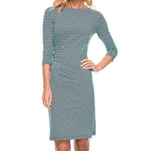 J.McLaughlin Sage Dress w/Geometric Design Medium